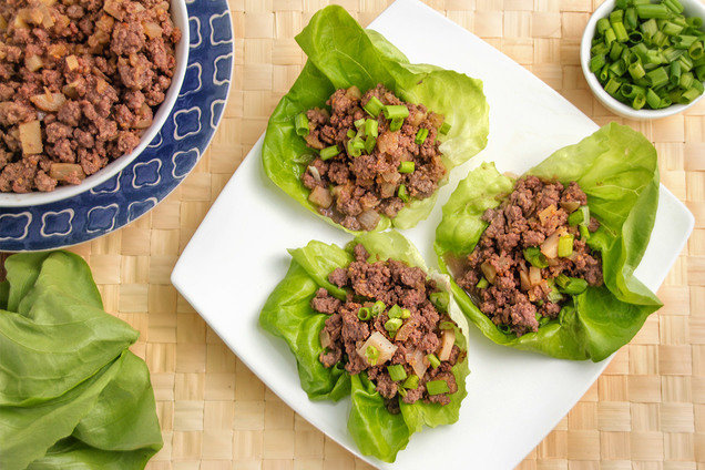 Hungry Girl Healthy Teriyaki Beef Lettuce Cups Recipe