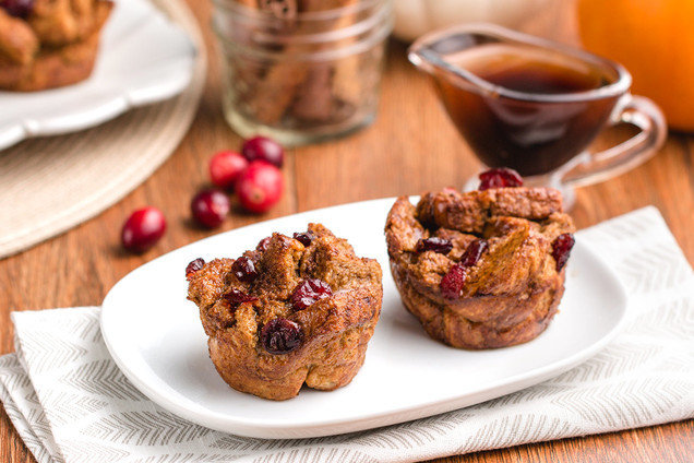 Hungry Girl's Healthy Pumpkin-Cranberry French Toast Muffins Recipe