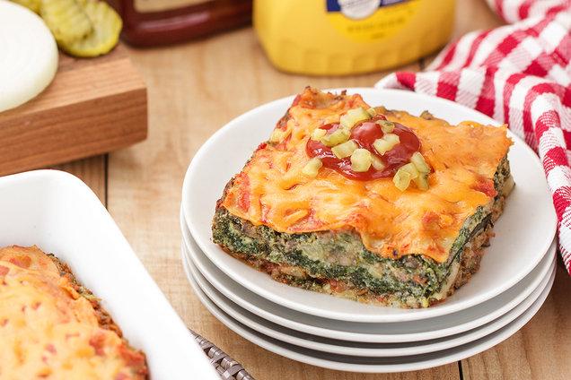 Hungry Girl's Healthy Cheeseburger Lasagna Recipe