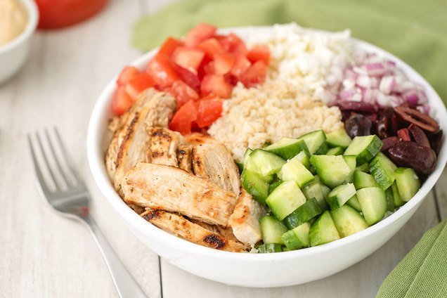 Hungry Girl's Healthy Greek Chicken Power Bowl Recipe
