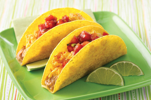 Healthy Breakfast Fiesta Crunchy Tacos Recipe