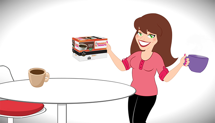 Hungry-Girl Video: Sponsored Video: Dunkin' Donuts® Coffee K-Cup® Pods!