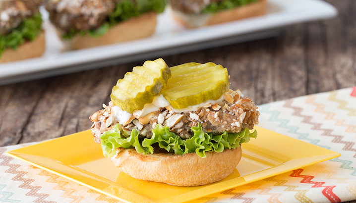 Hungry-Girl Video: Open-Faced Pretzel-Coated Pork Sliders