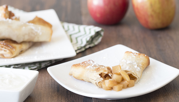 Hungry-Girl Video: Apple Pie Egg Rolls!