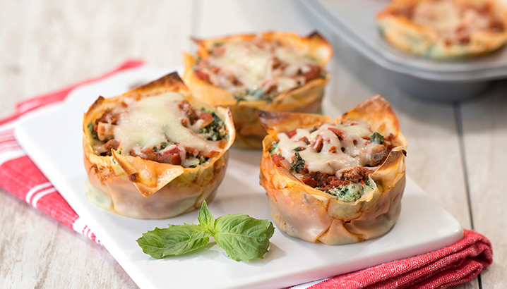 Hungry-Girl Video: Perfect Li'l Lasagna Cupcakes