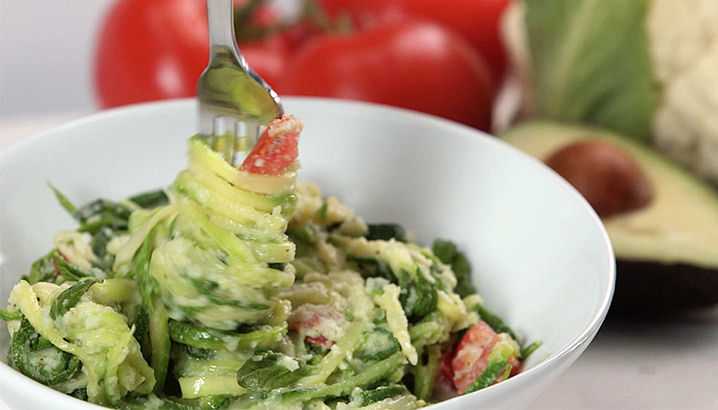 Hungry-Girl Video: Avocado Alfredo Zucchini Noodles
