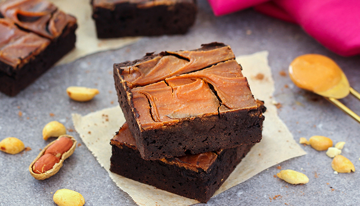 Hungry-Girl Video: Flourless Peanut Butter Brownies