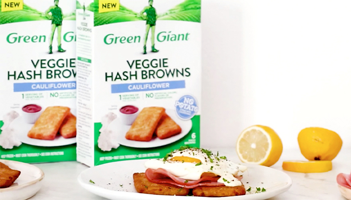 Hungry-Girl Video: Veggie Hash Browns Benedict (Sponsored by Green Giant)