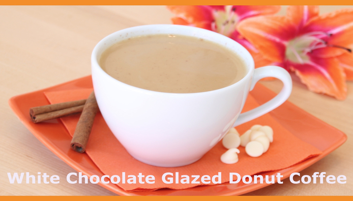 Hungry-Girl Video: Sponsored Video: Dunkin' Donuts White Chocolate Glazed Donut Coffee Recipe