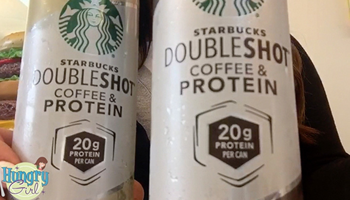 Hungry-Girl Video: Snack Find! Starbucks Doubleshot Coffee & Protein