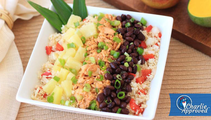 Hungry-Girl Video: Sponsored Video: StarKist Mango Chipotle Salmon Cauliflower Rice Bowl