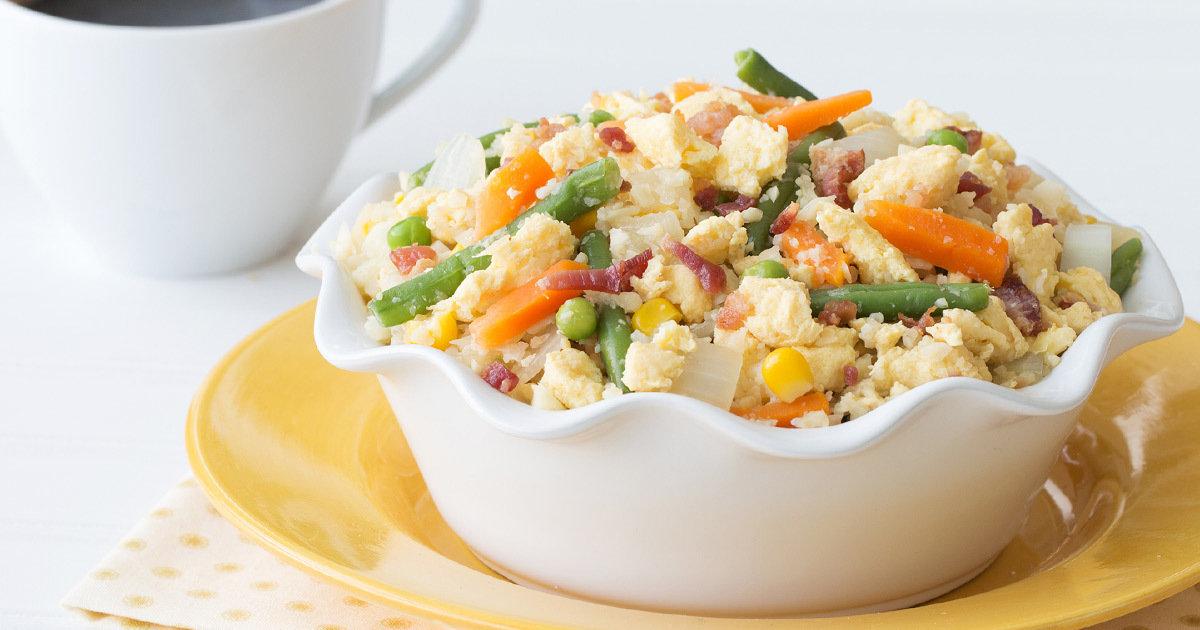 Healthy Breakfast Cauliflower Fried Rice Recipe Hungry Girl