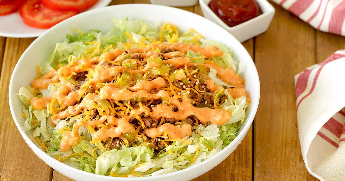 Healthy Big Mac Swap: Burger Bowl Recipe