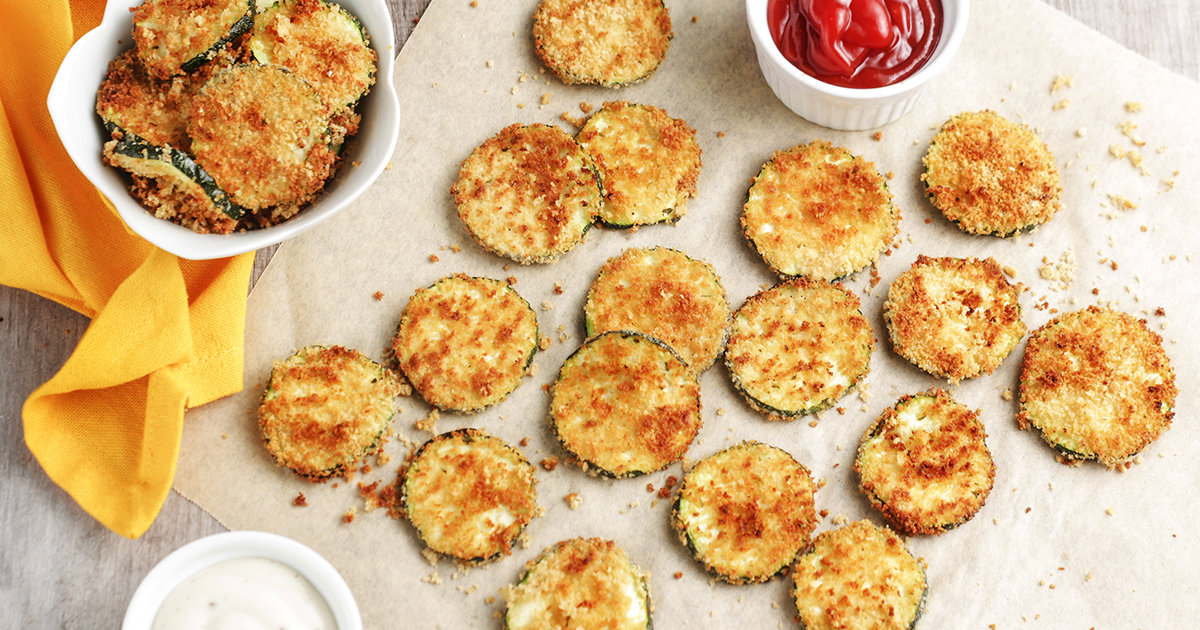 Air Fryer Zucchini Chips More Healthy Air Fryer Recipes Hungry Girl