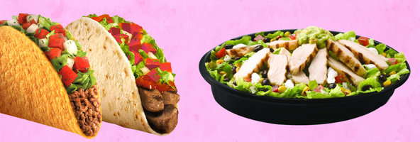 Healthiest Foods at Taco Bell: Tacos and Burritos