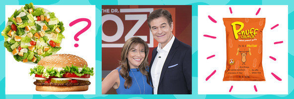 Salads vs. Burgers, HG on Dr. Oz, Peanut Puff Snacks