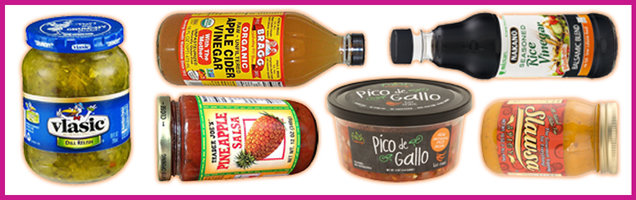 Salsas & Vinegars with 15 Calories or Less