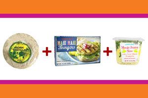 Mahi Mahi Burgers + Mango Jicama Slaw + Corn Tortillas