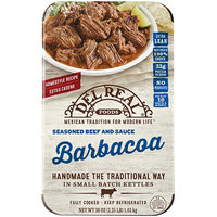 Del Real Foods Barbacoa Seasoned Beef and Sauce
