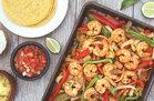 Hungry Girl's Healthy Pineapple Shrimp Fajitas Recipe