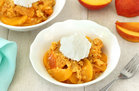 Hungry Girl's Healthy Slow-Cooker Peach Dump Cake Recipe