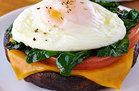 Hungry Girl's Healthy Portabella Poached Egg Recipe