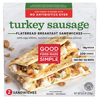 Good Food Made Simple Turkey Sausage Flatbread Breakfast Sandwiches