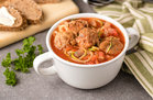 Hungry Girl's Healthy Z'paghetti & Meatball Soup Recipe