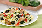 Hungry Girl's Healthy Creamy Mediterranean Spaghetti Squash Recipe
