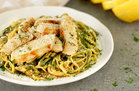 Hungry Girl's Healthy Chicken Scampi Z'paghetti Recipe