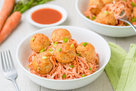 Hungry Girl's Healthy Buffalo Chicken Meatballs & Carrot Noodles Recipe