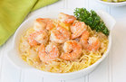 Hungry Girl's Healthy Spaghetti Squash Shrimp Scampi Recipe
