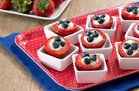 Hungry Girl's Healthy Red, White & Blueberry Stuffed Strawberries Recipe