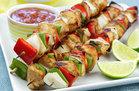 Hungry Girl's Healthy Chicken Fajita Kebabs Recipe