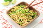 Hungry Girl's Healthy Cold Sesame Zucchini Noodles Recipe