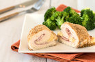 Hungry Girl's Healthy Crispy Chicken Cordon Bleu for Two Recipe