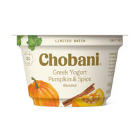 Chobani Pumpkin & Spice Blended Greek Yogurt