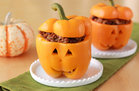 Hungry Girl's Healthy Taco Jack-O'-Lantern Stuffed Peppers Recipe