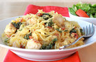 Hungry Girl's Healthy Creamy Kale Spaghetti Squash Recipe
