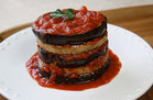 Hungry Girl's Healthy Saucy Eggplant Patty Tower Recipe