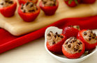 Hungry Girl's Healthy Chocolate Cheesecake Strawberries Recipe