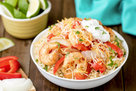 Hungry Girl's Healthy Shrimp Fajita Bowl Recipe