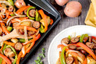 Hungry Girl's Healthy Sheet-Pan Sausage & Peppers Recipe