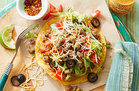 Hungry Girl's Healthy Meatless Mexican Tostada Recipe
