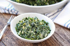Hungry Girl's Healthy Dreamy Creamed Spinach Recipe