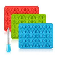 #1: SENHAI Gummy Bear Silicone Candy Molds