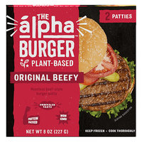 The Alpha Burger Plant-Based Original Beefy Meatless Beef-Style Burger Patty