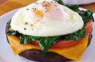 Hungry Girl Heallthy Portabella Poached Egg Recipe