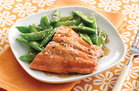 Hungry Girl Healthy Sesame Salmon & Snap Peas Recipe