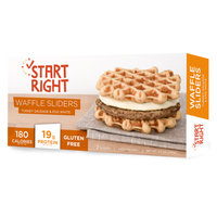 Start Right Turkey Sausage & Egg White Waffle Sliders